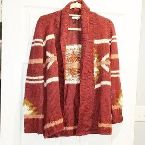 C-WONDER Aztecan cardigan